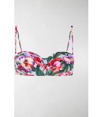 dolce & gabbana floral print bikini top