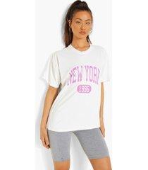 oversized overdye new york t-shirt, ecru