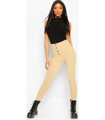 button front legging, sand