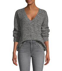 cotton-blend v-neck sweater