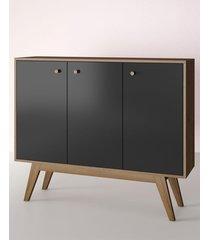 aparador buffet/bar blend preto estilare móveis
