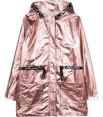 little marc jacobs metallic pink waterproof jacket