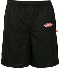 off-white mesh shorts - black