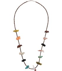 jessie western animal beaded necklace - multicolour