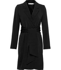 koxiw wrap dress knälång klänning svart inwear