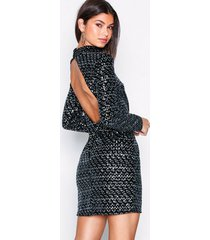 nly trend flawless sequin velvet dress paljettklänningar svart