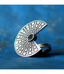 duży regulowany pierścionek srebrny nefre