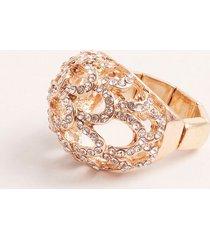 anillo redondo cerrado con cristales. uni