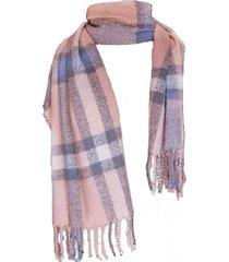 bufanda tartan highlands rosado viva felicia