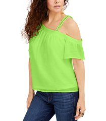 palette one-shoulder gauze top