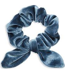 knotted velvet hair tie