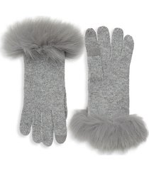 fox fur & cashmere gloves