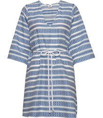 sarah tunic korte jurk blauw twist & tango