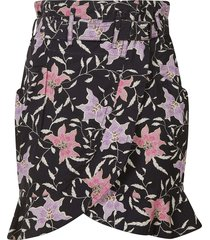 isabel marant wrapped printed skirt