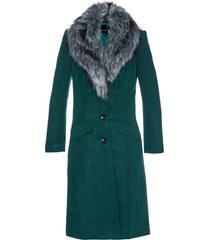 cappotto con collo in ecopelliccia (verde) - bpc selection