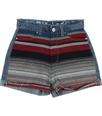 p jean denim shorts