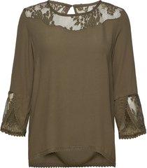 kalaniecr blouse blouse lange mouwen groen cream
