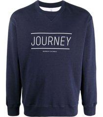 brunello cucinelli navy blue cotton sweatshirt