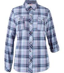 camicia in flanella (blu) - john baner jeanswear