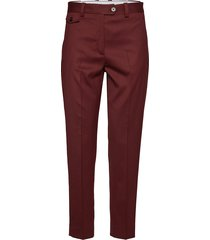 wool twill detail ci pantalon met rechte pijpen rood calvin klein