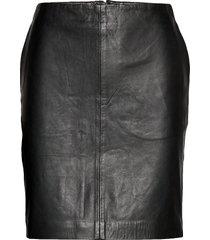 19 the leather skirt kort kjol svart denim hunter