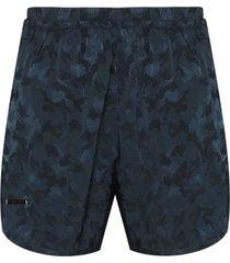 true tribe wild steve camouflage-pattern swim shorts - blue