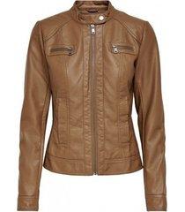 leren jas only chaqueta mujer polipiel 15081400