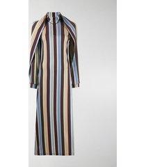 y/project stripe cape dress