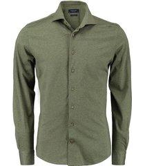 knitted overhemd groen