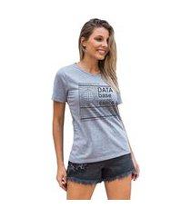 camiseta feminina mirat data base mescla