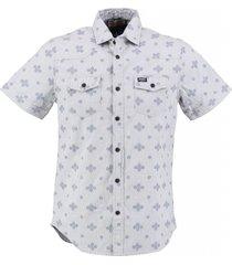 petrol denim overhemd