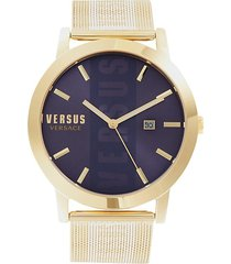 versus versace men's stainless steel mesh bracelet watch