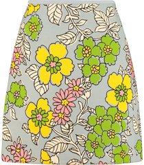 tory burch floral print mini skirt