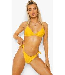 essentials bikini broekje met zijstrikjes, orange