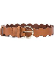 loeffler randall ric rac belt - brown
