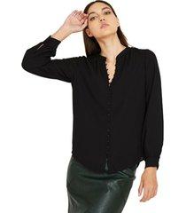 blusa botones forrados negro nicopoly