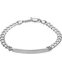 bracciale in argento 925 rodiato per uomo