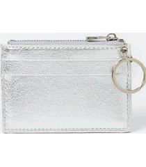 sammy metallic keychain wallet - silver