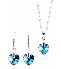 conjunto romance con swarovski azul joyas montero