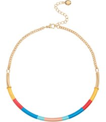 bcbgeneration wrapped frontal necklace