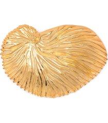 atu body couture x la vie en doré shell brooch - gold