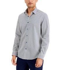 alfani men's regular-fit neat-print shirt, created for macy's