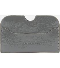 núnoo women's carla gloss card holder - grey