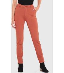 pantalón wados ponte pitillo marrón - calce ajustado