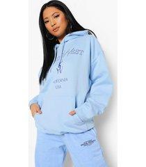 petite pastel ye saint west hoodie, pale blue