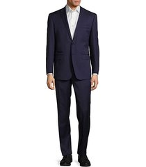 classic-fit solid woolen suit