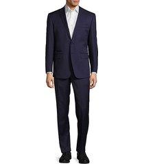 modern fit solid woolen suit
