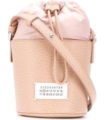 maison margiela micro 5ac bucket bag - neutrals