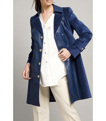 abrigo terciopelo azul vintage liola