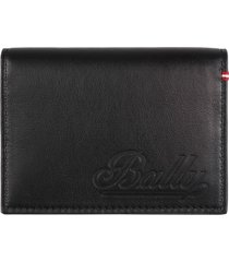 bally leather flap-over card-holder